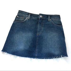 H&M Raw Hem Jean Skirt Women's Size 4